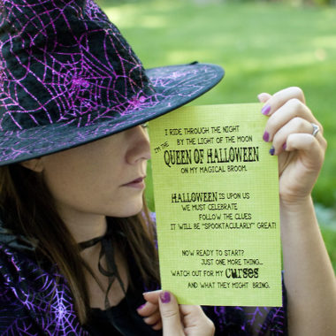 Ue this halloween treasure hunt to add some fun to your holiday! #halloween #treasurehunt