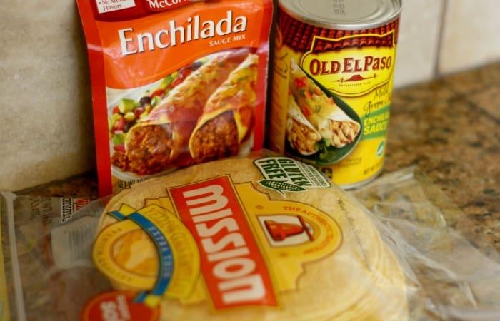 How do you make a chicken enchilada bake?