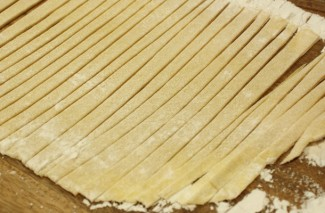 Vintage Brown Buttered Homemade Noodles Recipe