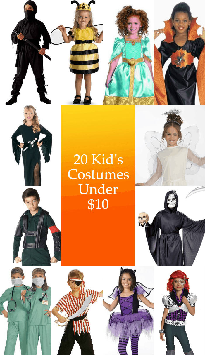 10 Kids Costumes for under $10 on Amazon. I have Amazon prime so that means free shipping too! I love the bumblebee costume so much.