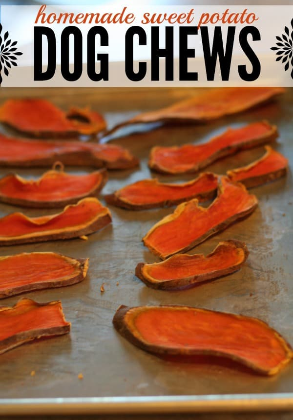DIY Homemade Dog Chews made from sweet potatoes. All you need to do is slice