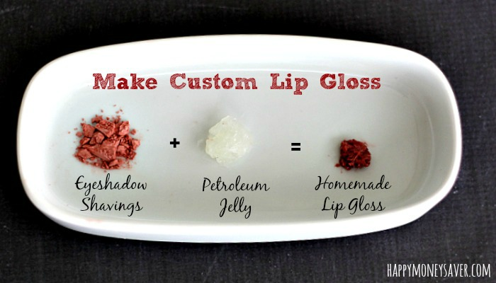 Make lipgloss with 2 ingredients in your home!  So fun for custom colors! And so easy too!