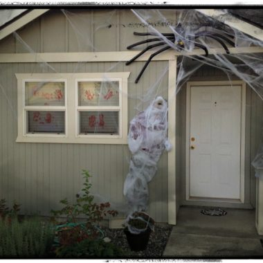 Halloween Decor on a Budget: Spooky Man-Eating Spider