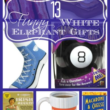 13 Funny White Elephant Gifts Finding funny gifts that haven't been used over and over can be hard! I've got some awesome ones for you to check out!
