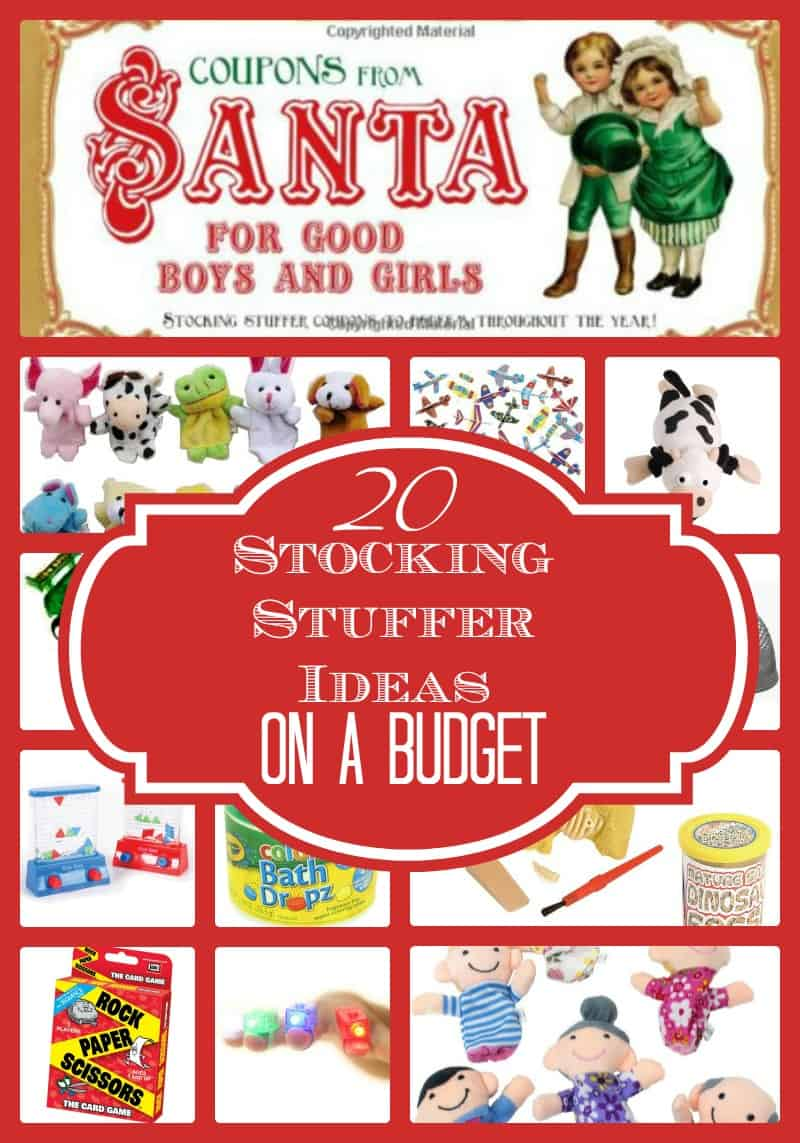 20 Stocking Stuffer Ideas on a Budget Stocking Stuffers are so much fun and they don't have to cost you a fortune!