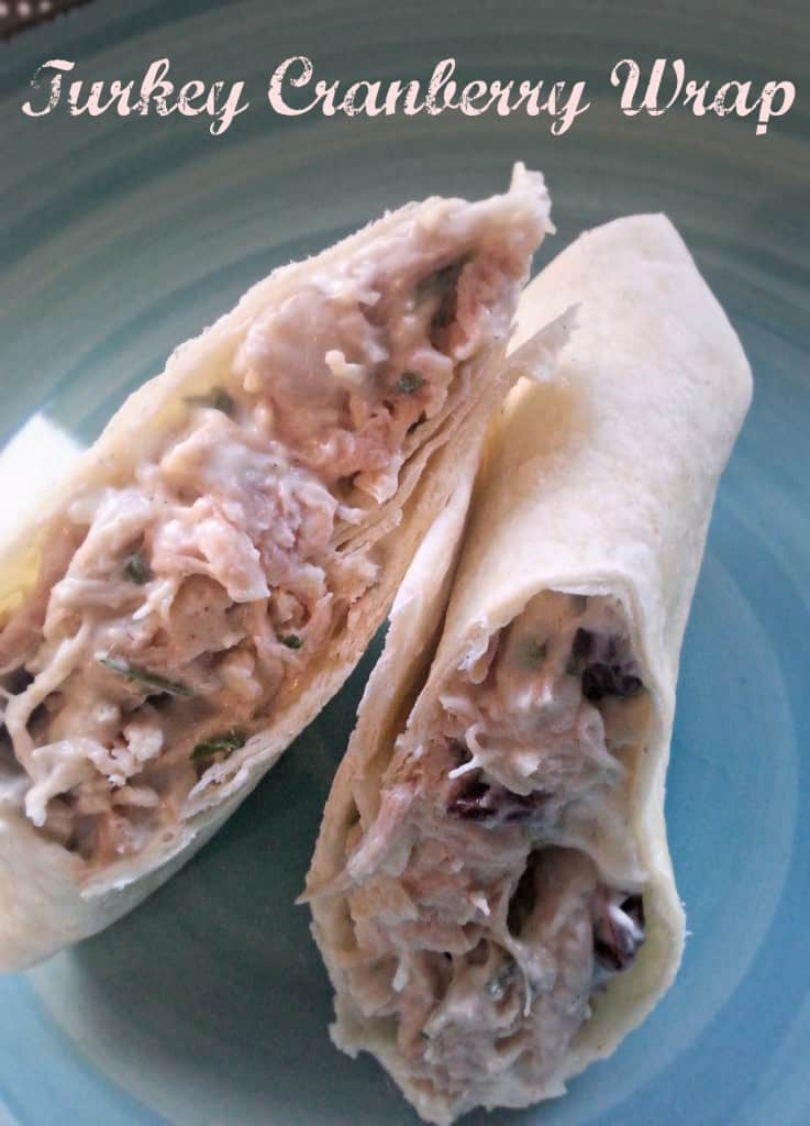Turkey Cranberry Wrap This would be a delicious and filling lunch idea to add to your mennu!