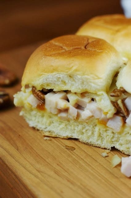 Turkey and Apricot Sliders This would be a delicious and filling dinner idea for your family!