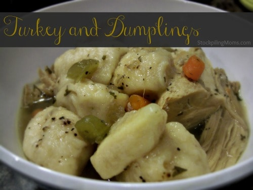 Turkey and Dumplings Another delicious twist on a classic dish!