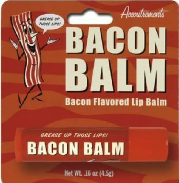 Bacon Balm This would be another hilarious gift idea for any friend who loves bacon!