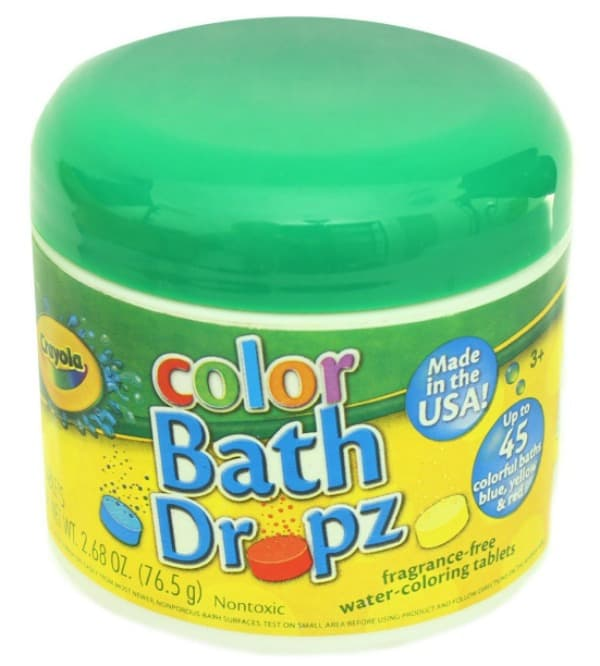 Color Bath Dropz Everyone loves a little color and these would turn bath time into a blast!