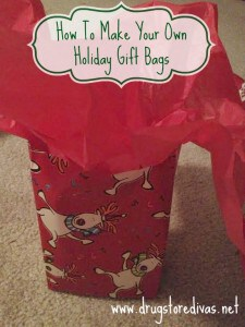 This is a very frugal way to do a DIY Gift Bag!