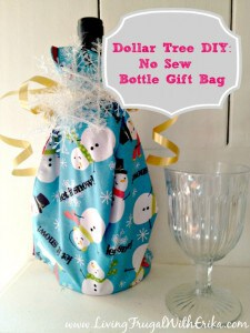During the holiday season you might not be taking a large gift, but a bottle of wine works great for gatherings and this is a fantastic way to make a gift bag!