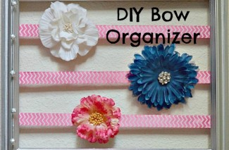 Thrifty Tip: DIY Picture Frame Bow Holder
