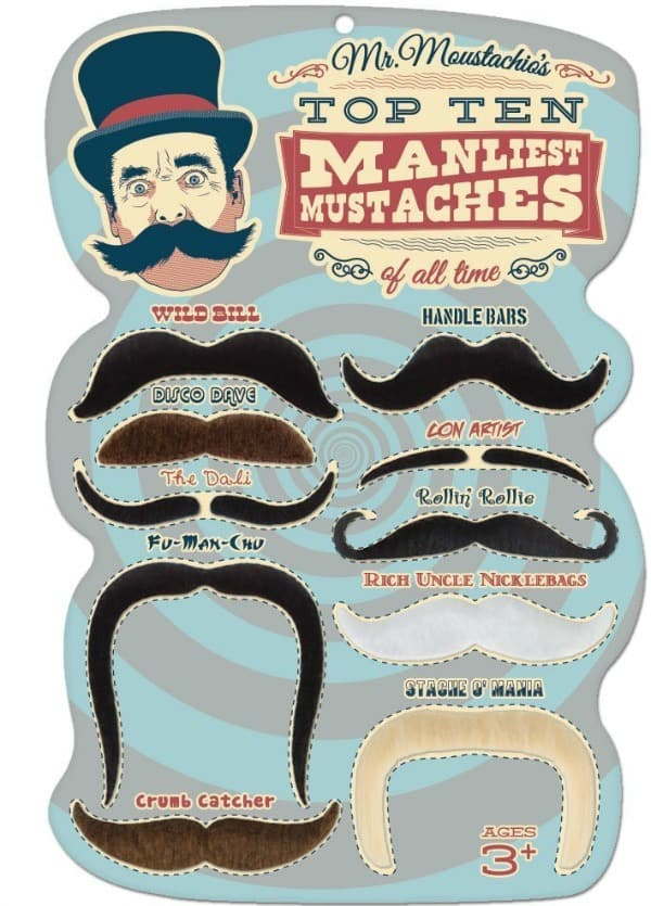 Manliest Mustaches This would be such a great item to add to your child's dress up box!