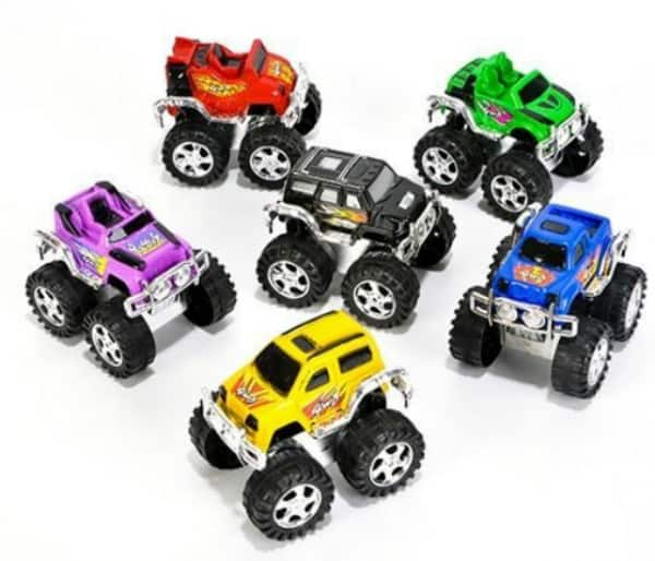 Pull Back Monster Trucks This would be the perfect stocking stuffer for any kid!