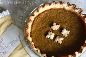 Vintage Pumpkin Pie Recipe {From 1900's recipe Box}