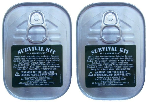 Two Survival Kits in Sardine Cans