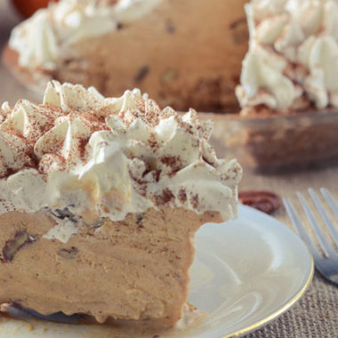 Great Grandma's Mile High Pumpkin Sundae Pie