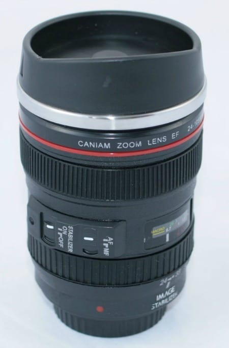24-105mm Travel Coffee Mug This would be a unique gift idea for a photographer in your life!