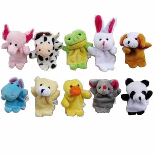 Velvet Animal Finger Puppets How cute would these be for a stocking stuffer? They will also provide your child with several hours of play