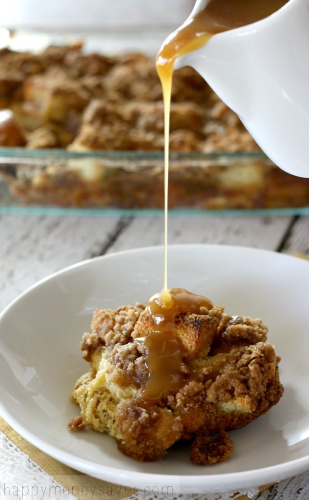 Make Ahead Egg Nog French Toast with Buttermilk Caramel Syrup-Perfect for Christmas morning!