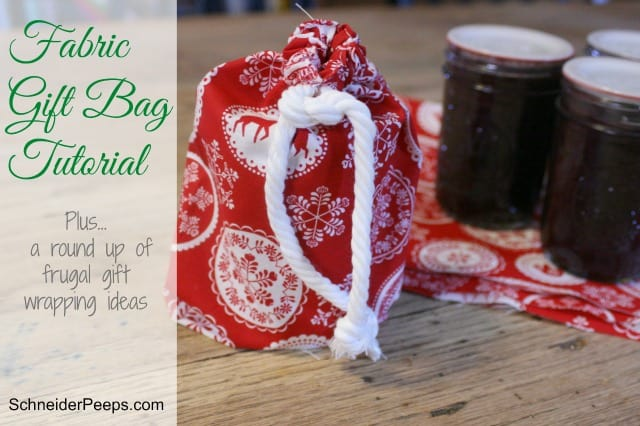 Fabric Gift Bags are a beautiful idea because they can be used several times and still be beautiful!