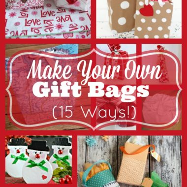 Make Your Own Gift Bags (15 ways!)