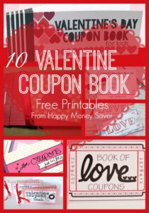 Coupon Books a unique way to make Valentine's Day special! This is a fun gift idea for both kids and adults!