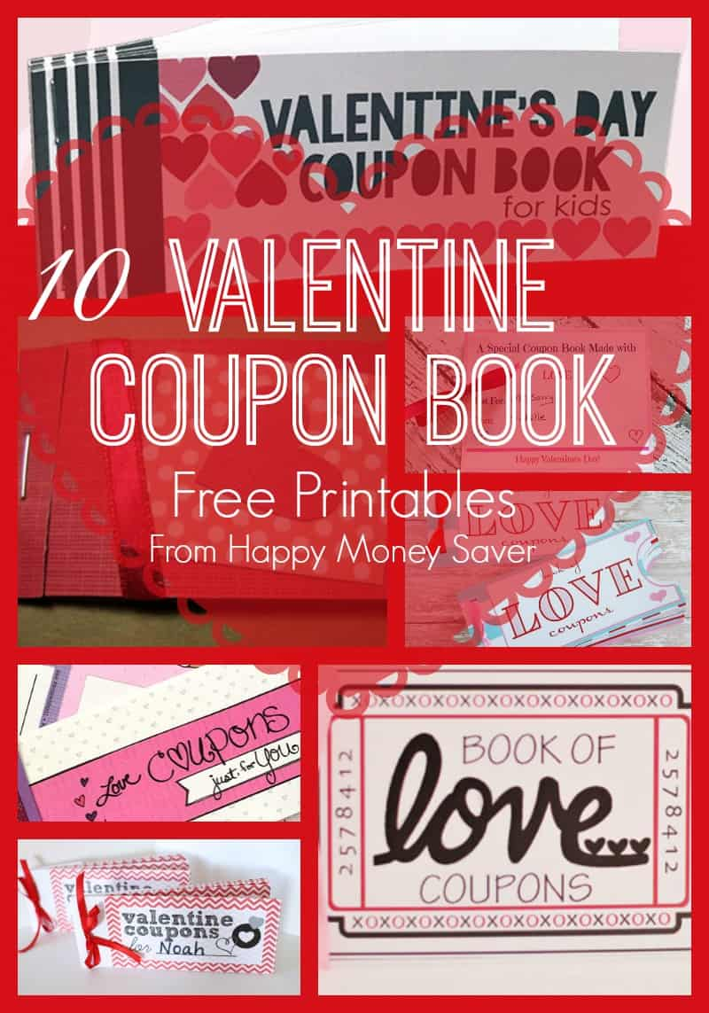 Coupon Books a unique way to make Valentine's Day special! This is a fun gift idea for both kids and adults!  A round up of 10 of the BEST Valentine Coupon book free printables online!