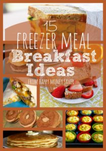 Making freezer meals for your family can save so much time, but having a quick breakfast on hand is a fantastic idea as well! I have 15 Freezer Meal Breakfast Ideas for you to add to your menu rotation today!