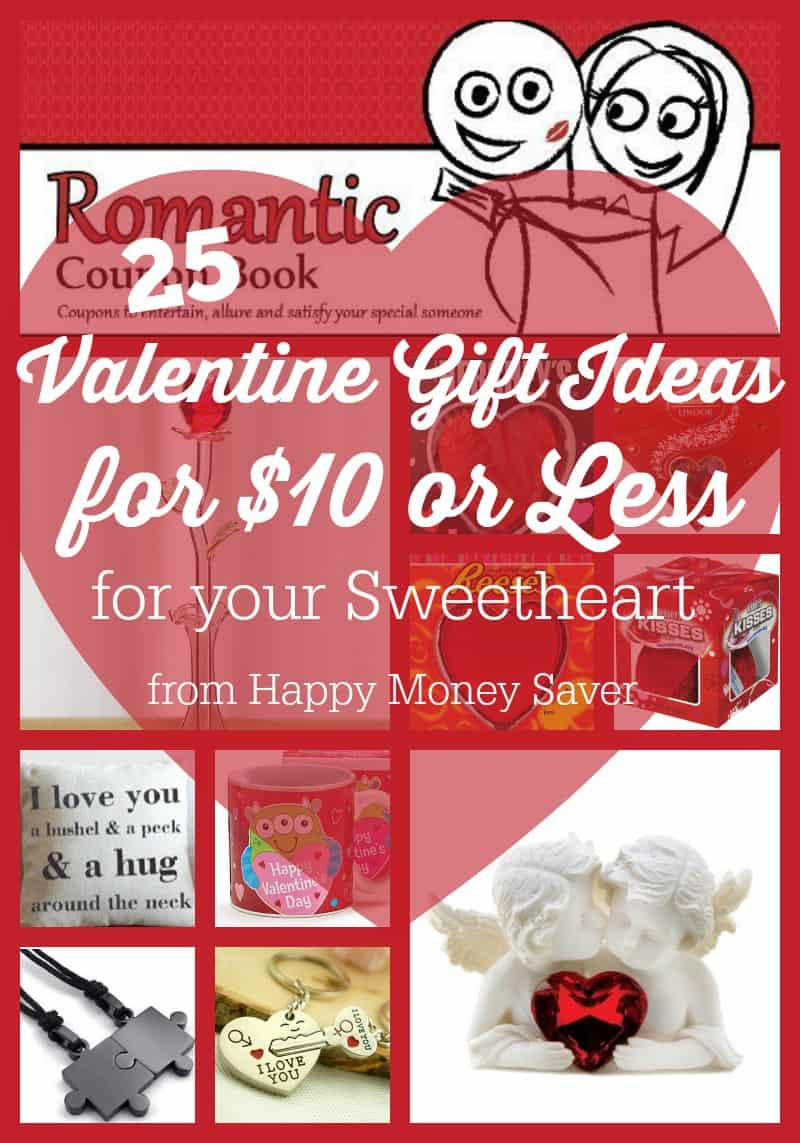 Valentine's Day does not have to break the bank when you are shopping for your sweetheart! Here are 25 Valentine Gift Ideas for $10 or less for your sweetheart!