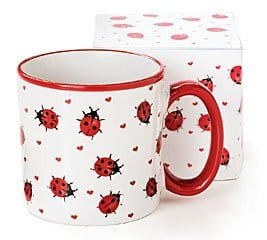 This ladybug coffee mug is adorable and would be a fantastic gift idea for someone who loves coffee and ladybugs!