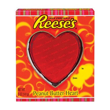 """Everybody loves chocolate and this Reese's Heart would be a very """"sweet"""" gift for Valentine's Day!"""
