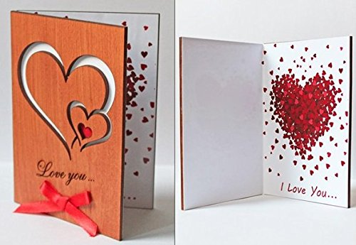 If you love to have a unique twist on your Valentine's Day Gifts, this handmade wooden card would be fantastic! This is so beautiful!