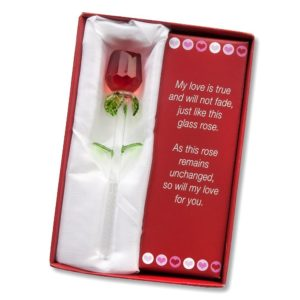 This is another beautiful alternative to roses that will die in a few days! This beautiful rose also comes with a poem and the red box to make it perfect!