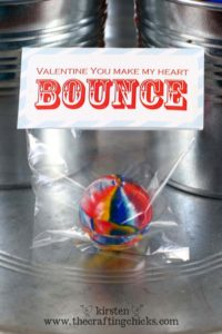 Bouncy balls are always a ton of fun and this would be a great frugal Valentine's Day classroom swap idea!