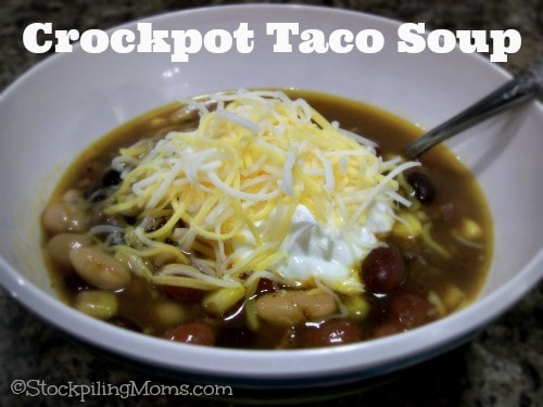 Taco Soup is a wonderful idea in my book because it combines all of the taco flavors into a delicious and hearty soup!