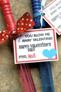 Every kid loves bubbles and this is an adorable Valentine Idea!