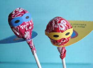 Superheros are a fun idea for Valentine Treats and this is so adorable!