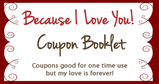 10 valentines day coupon book free printables for Coupon book for husband template