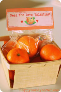 Not only is this a cute Valentine idea, it is a healthy one as well!