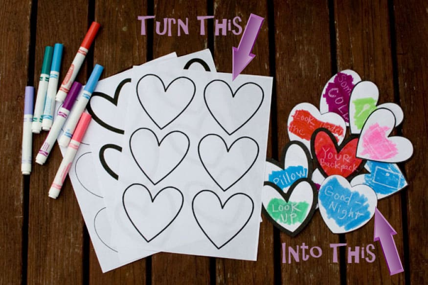This is a perfect Valetine's Day Treasure Hunt to surprise your kids! #happythoughts #treasurehunt