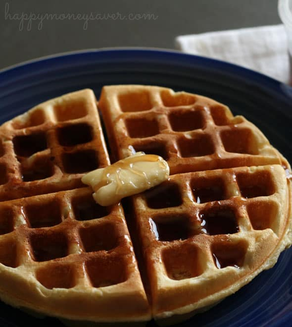 Waffles don't have to take forever to make and be only on the weekends! You can have delicious waffles ready to go with this awesome freezer recipe!