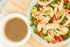 This homemade vinaigrette is the best! Simple, healthy and delicious. Sure beats the store bought chemical stuff.