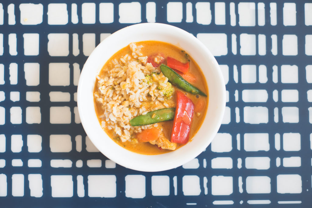 Homemade red coconut curry chicken . Waaay cheaper than your local Thai restaurant and even better taste. Seriously you'll want to lick every last drop - the sauce is DI-VINE! happymoneysaver.com