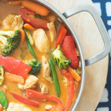 Red Coconut Curry Chicken Recipe