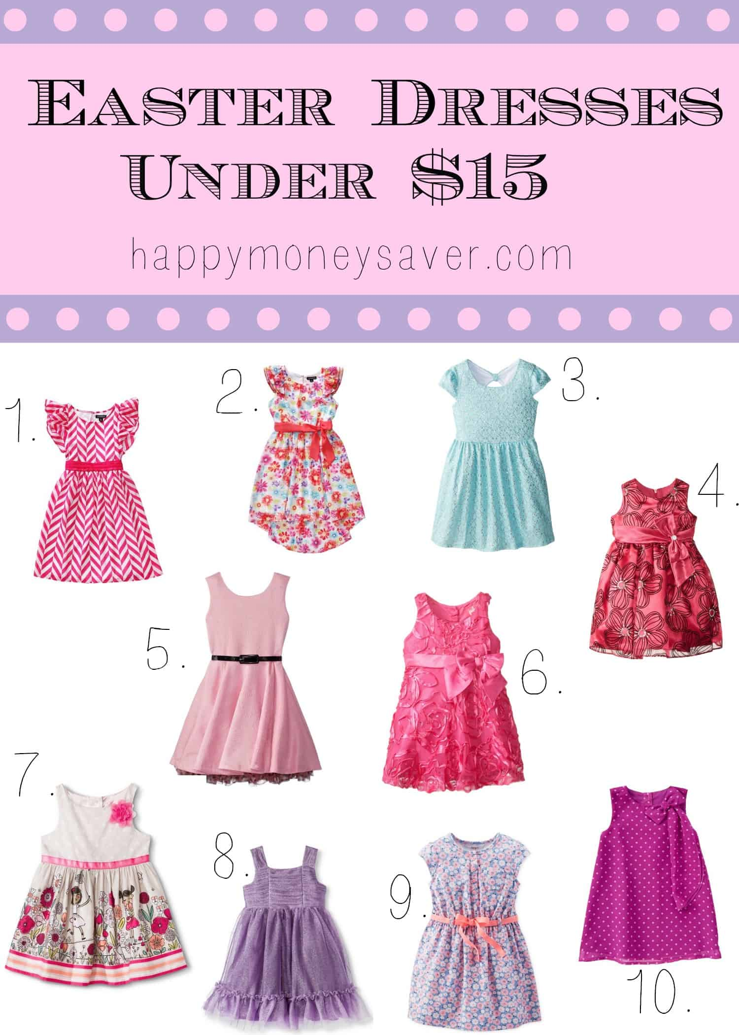10 BEAUTIFUL Little Girls Easter dresses under $15