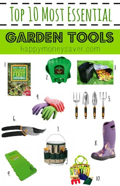 A list of the most essential gardening equipment.  This is the perfect list of supplies to have for this upcoming garden season.