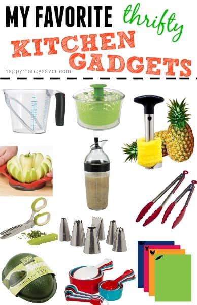 A great list of Inexpensive Kitchen Gadgets that could make life much easier! happymoneysaver.com