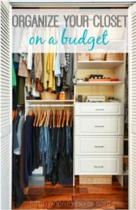how to organize closet
